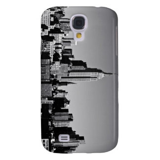 New York City Skyline in Black and White Samsung Galaxy S4 Case