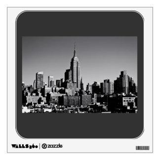 New York City Skyline in Black and White Wall Sticker
