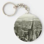 New York City Skyline Key Chain