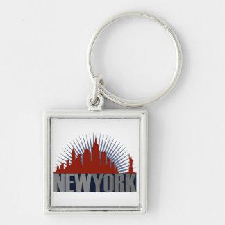 New York City Skyline Keychain