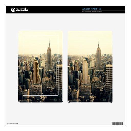 New York City Skyline Kindle Fire Decal