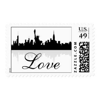 New York City Skyline Love Stamps