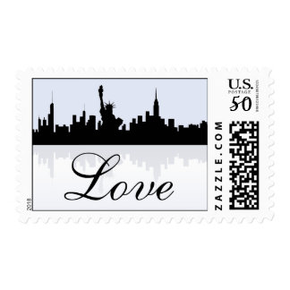 New York City Skyline Love Stamps