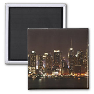 New York City Skyline 2 Inch Square Magnet