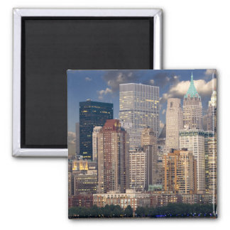 New York City Skyline 2 Inch Square Magnet