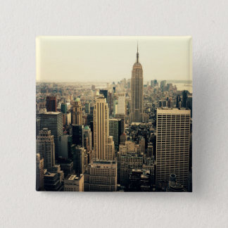 New York City Skyline Midtown Button