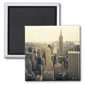 New York City Skyline Midtown 2 Inch Square Magnet