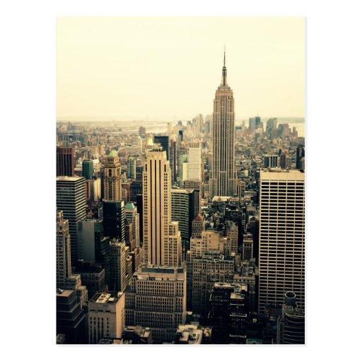 New York City Skyline Midtown Postcard