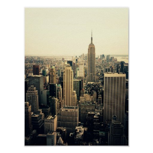 New York City Skyline Midtown, Small Posters