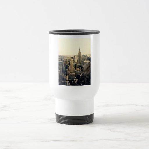 New York City Skyline 15 Oz Stainless Steel Travel Mug