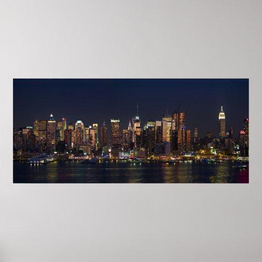 New York City Skyline Panorama 08 Poster