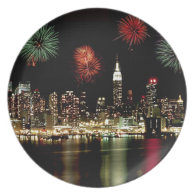 New York City Skyline Party Plates