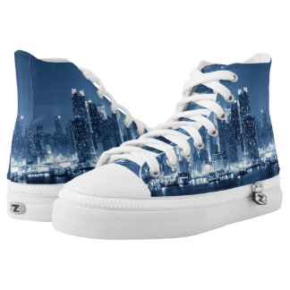 New-York City Skyline Photo High-Top Sneakers