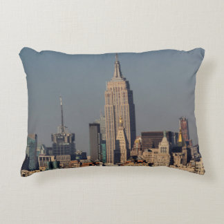 New York City Skyline Photo with Empire State Buil Accent Pillow
