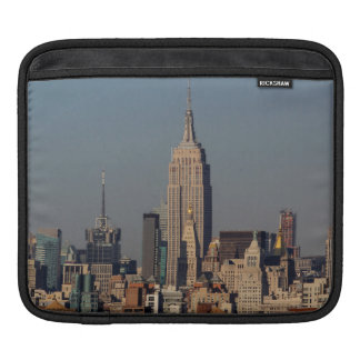 New York City Skyline Photo with Empire State Buil Sleeve For iPads