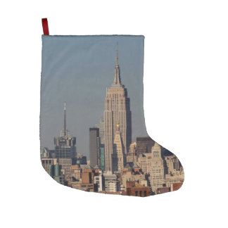 New York City Skyline Photo with Empire State Buil Large Christmas Stocking