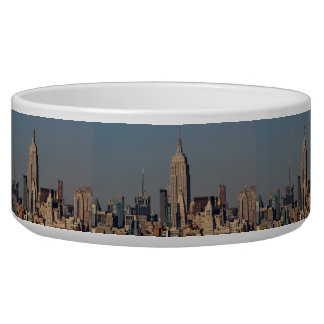 New York City Skyline Photo with Empire State Buil Pet Bowl