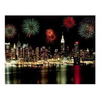 New York City Skyline Postcard