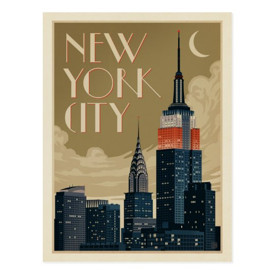 From New York City: New York City Skyline Postcard
