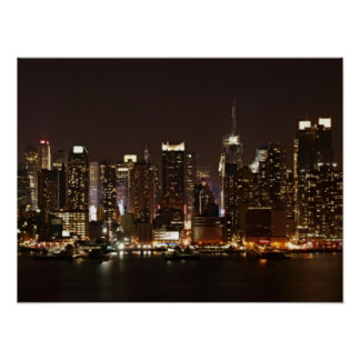 new york city skyline posters zazzle. Black Bedroom Furniture Sets. Home Design Ideas