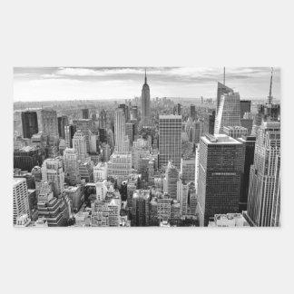 New York City Skyline Rectangular Sticker