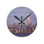 New York City Skyline Round Clock