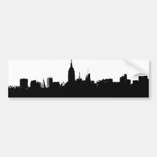 New York City Skyline Silhouette Bumper Sticker Car Bumper Sticker