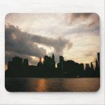 New York City Skyline Silhouette Mouse Pad