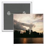 New York City Skyline Silhouette Pinback Button