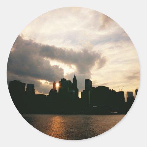 New York City Skyline Silhouette Stickers