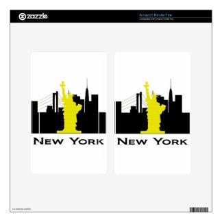New York City Skyline Kindle Fire Skins