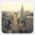 New York City Skyline Square Sticker
