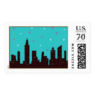 New York City Skyline Stamp