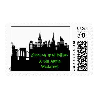 New York City Skyline Stamps