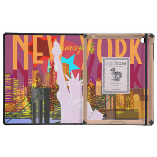 New York City Skyline Statue of Liberty iPad Folio Case