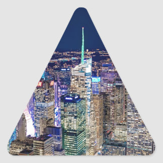 New York City Skyline Triangle Sticker