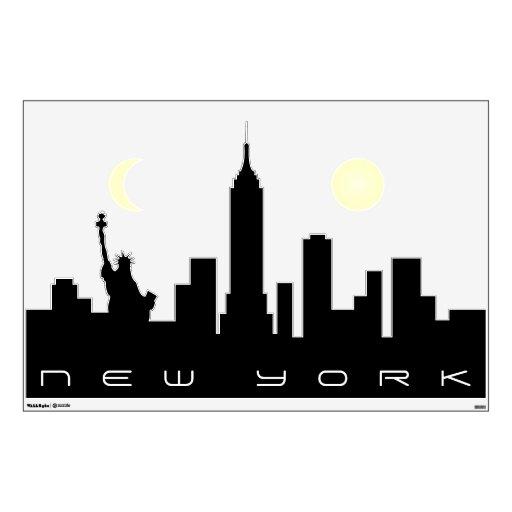New York City Skyline Wall Decal Zazzle