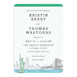 New York City Skyline Wedding Invitation