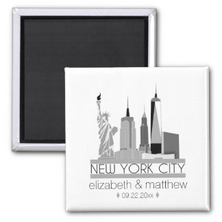 New York City Skyline Wedding Magnet