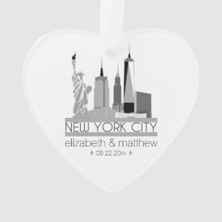 New York City Skyline Wedding Ornament