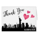 New York City Skyline Wedding Thank You Card