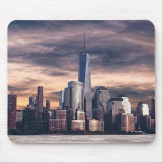 New York City Skyline Winter Mouse Pad