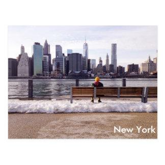 New York city skyline winter Postcard