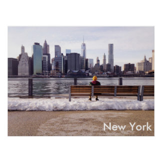 New York city skyline winter Poster
