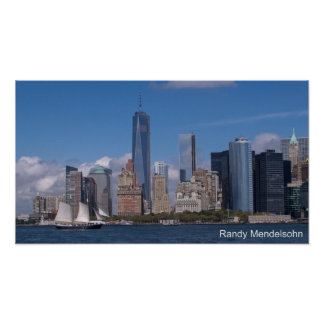 New York City Skyline with Freedom Tower Poster