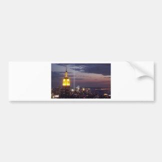 NEW YORK CITY SKYLINE WORLD TRADE CENTER BUMPER STICKER