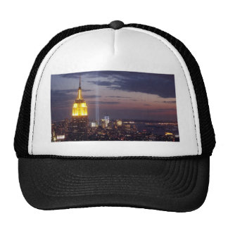 NEW YORK CITY SKYLINE WORLD TRADE CENTER TRUCKER HAT