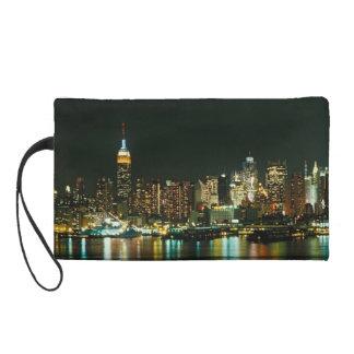 NEW YORK CITY SKYLINE WRISTLET PURSE