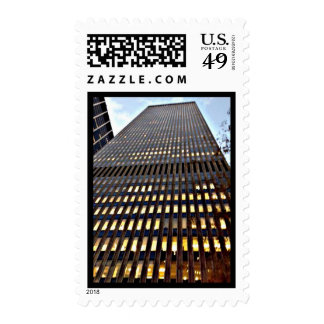 New York City Skyscraper at Dusk Postage Stamps