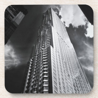 New York City Skyscraper in Black and White Drink Coaster